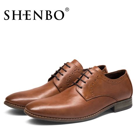best oxford dress shoes aliexpress buy shenbo brand brown dress shoes