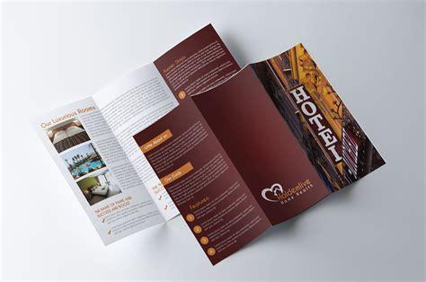 hotel brochure template hotel trifold brochure brochure templates creative market