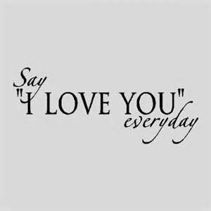 Decorative Wall Signs For The Home Say I Love You Everyday Love Wall Quotes Words Sayings