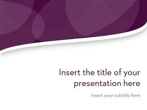 free purple wavy powerpoint template clean wavy free template for powerpoint and impress
