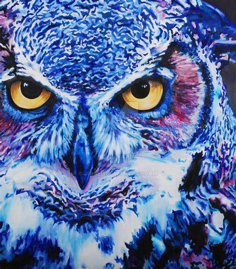 Piyama Owl Blue Piyama Owl blue owl by jirael on deviantart