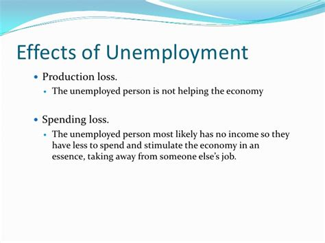 Unemployment Cause And Effect Essay by Unemployment Presentation