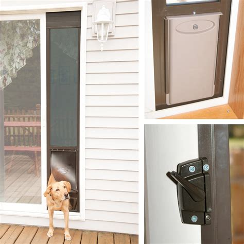 Diy Patio Pet Door Electronic Patio Door Icamblog Patio Pet Doors For Patio Doors