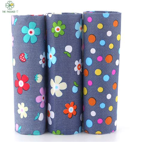 Patchwork Bundles - cotton patchwork 3 pieces blue floral patchwork