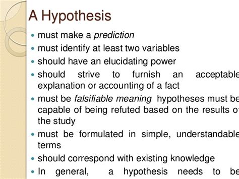 what is a hypothesis in a research paper hypothesis