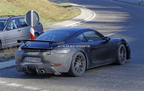 latest porsche new porsche 718 cayman gt4 comes out with hardly any camo