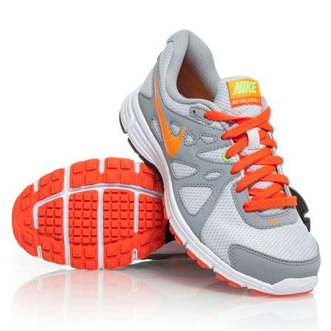 revolution 2 msl grey running shoes nike revolution 2 msl womens running shoes grey orange