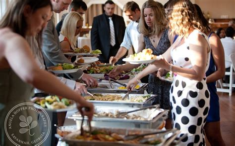 Buffet Line Wedding   Catering by Thrive