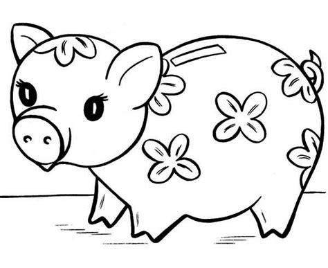 four piggy banks coloring pages maranom com