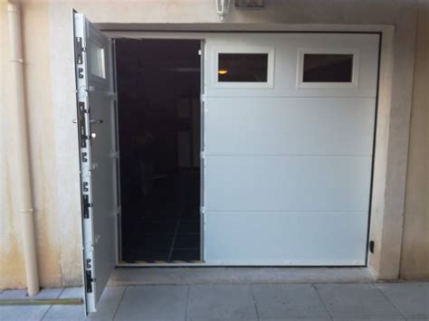 installation d une porte de garage sectionnelle motoris 233 e