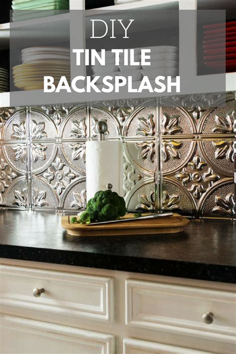 how to install a tin tile backsplash in 2019 diy