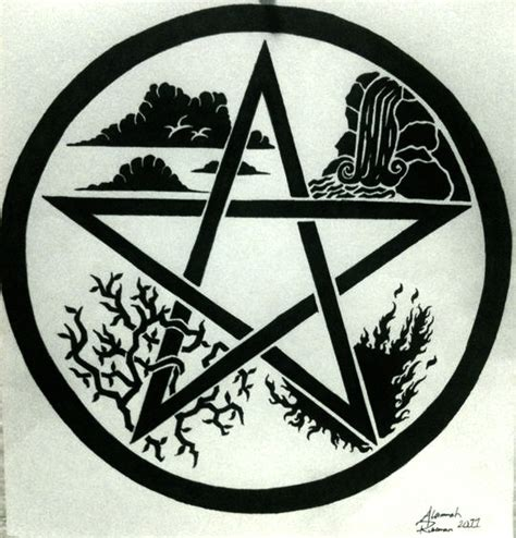 pentacle tattoo elemental pentacle design by alannah on deviantart