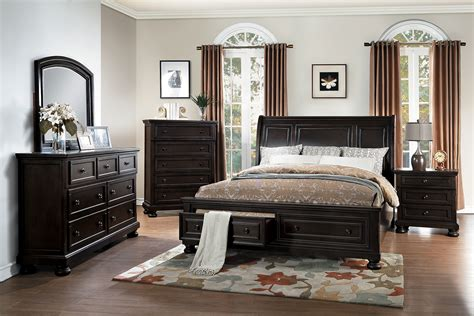 homelegance bedroom set homelegance begonia sleigh platform storage bedroom set