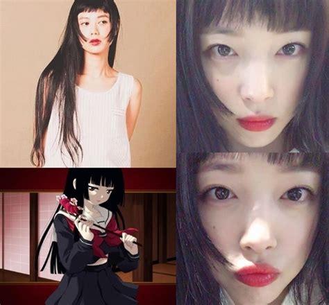 model rambut f x imutnya sulli pamer potongan rambut ala karakter anime