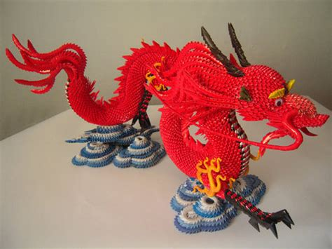 3d origami chinese dragon tutorial origami or fat joints hmm let me think the nug