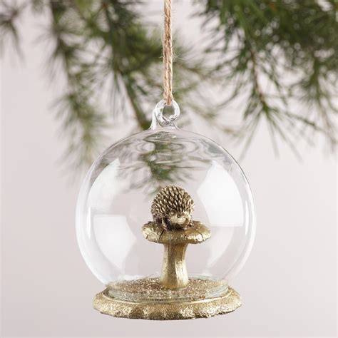 glass cloche woodland creature ornaments set of 3 world