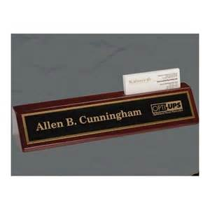 personalized business desk name plate with