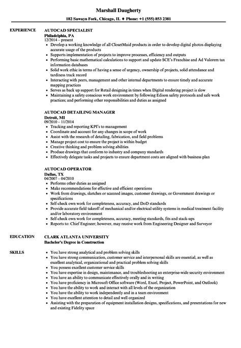 autocad resume sles velvet
