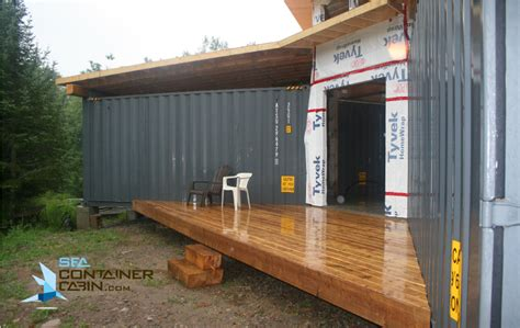 framing   shipping container cabin project summer