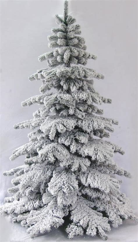 photos of atrificial christmas tress with snow the 7ft snow white fir