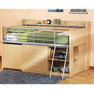 Loft Bed With Desk And Storage Charleston Storage Loft Bed With Desk Ebay