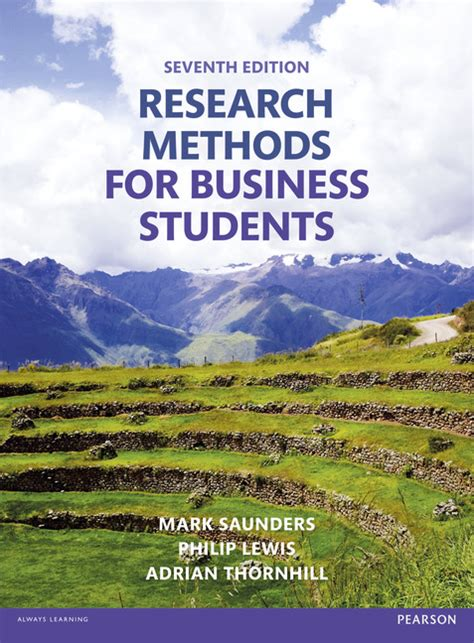Research Methods For Management Mba Pdf by Pearson Education Research Methods For Business Students