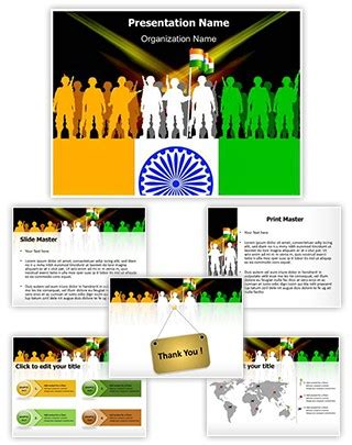 Professional Indian Army Editable Powerpoint Template Indian Army Ppt Template Free