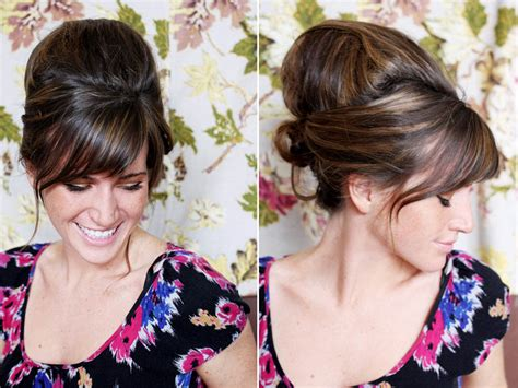 how to make a beehive hairstyle diy tutorial create a 1960s inspired beehive hair style