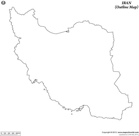 Iran Map Outline by Blank Map Of Iran Iran Outline Map