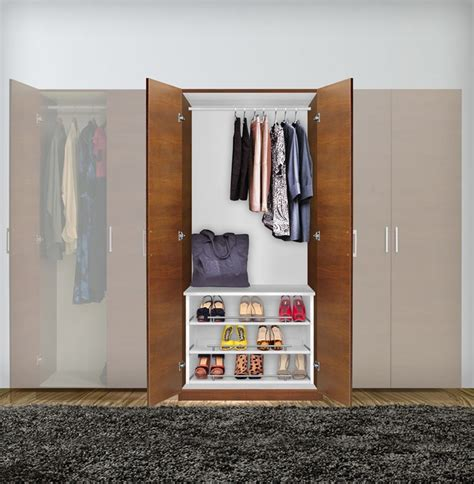 alta free standing wardrobe closet 3 extending shoe