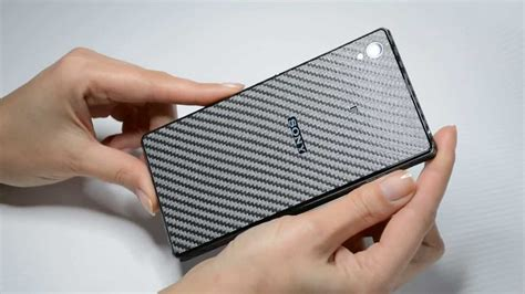 J Skin Carbon Texture For Sony Xperia Z1 review metallic grey carbon fibre sticker skin for sony xperia z1