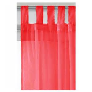tab top red curtains tab top voile curtain panel red 59 x 48 21361 online
