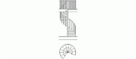 escaleras en corte frontal bloques autocad gratis de escalera de caracol de un tramo