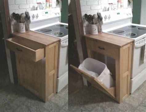 tilt out storage cabinet diy wood tilt out trash or recycling cabinet tutorial by