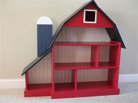 barn bookshelf blue silo childrens furniture and
