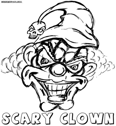 scary coloring pages scary clown coloring pages coloring pages to
