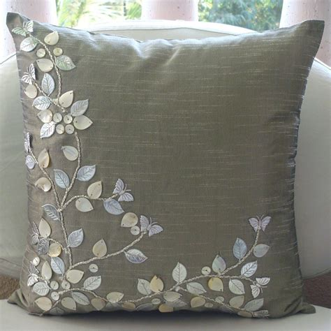 Sofa Pillow Covers Sham Covers 26x26 Silk Of Pearl Leather