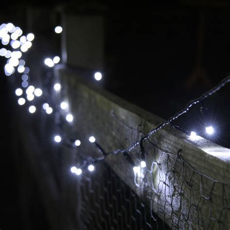 100 White Led Solar Fairy Lights 10 Metre String Lights White