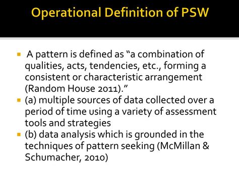Pattern Seeking Definition | ppt patterns of strengths and weaknesses psw