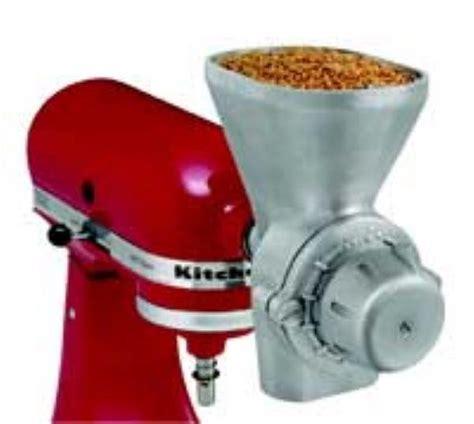Kitchen Mill Wheat Grinder Kitchenaid Kgm Optional Attachment Grain Mill