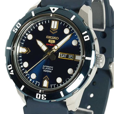 Seiko 5 Sports Srp221 2 seiko 5 sports automatic pearlescent blue blue rubber srp677j2 srp677