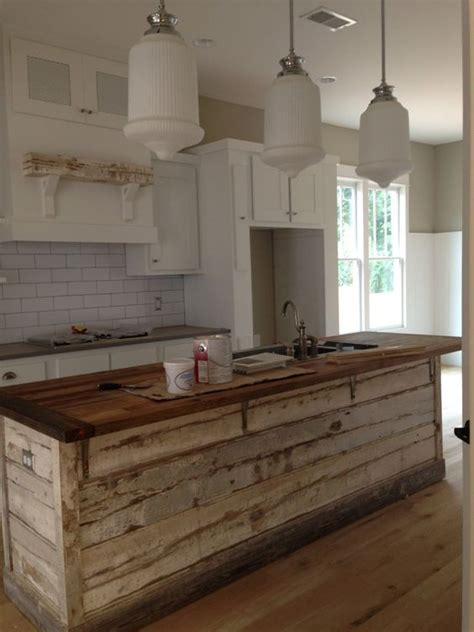 barn board kitchen island design ideas 30 rustic countertops that add coziness to your home