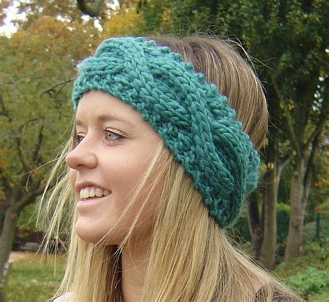 free pattern knitted headband knitting pattern cable headband ear warmer by