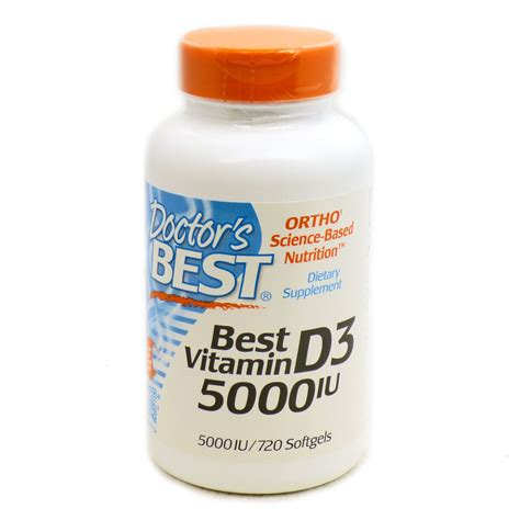 best vitamin d3 best vitamin d3 5000iu by doctor s best 720 softgels