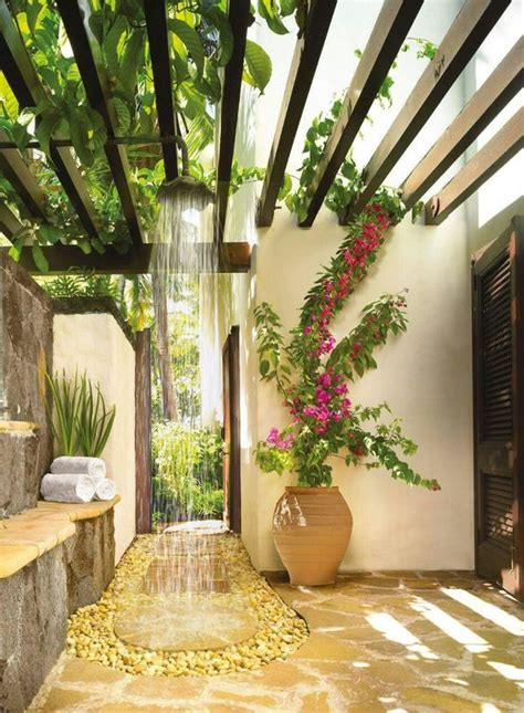 cool  relaxing outdoor shower ideas gardenoholic