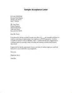 Acceptance Letter Template 7 Acceptance Letter Sample Rejection Letters