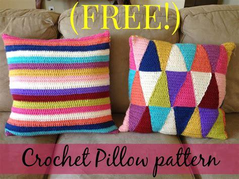how to crochet a pillow free crochet stripped pillow pattern