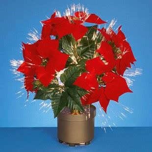 fibre optic poinsettia floral arrangement