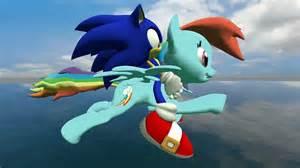 Sonic and rainbow dash running flying by segajosh3 on deviantart