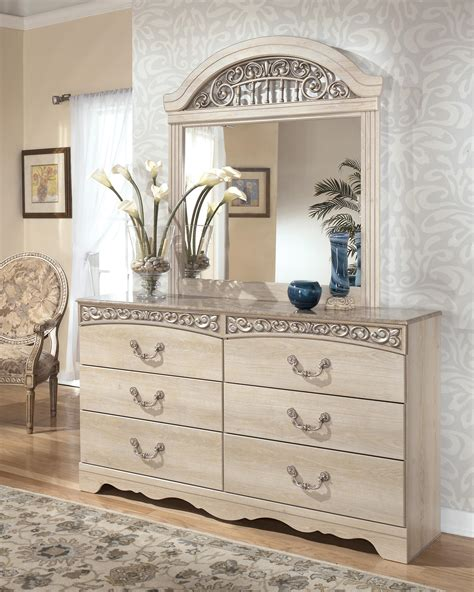 long modern antique victorian dresser with marble top and